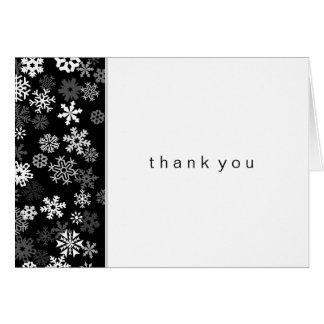 Snowflake Edge 2 Bar Mitzvah Thank You Card