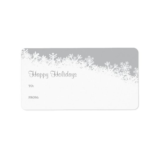 Snowflake Edge Holiday Gift Label