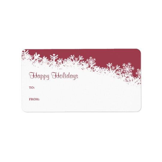 Snowflake Edge Holiday Gift Label