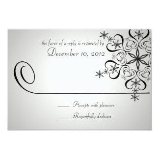 Snowflake Elegance Silver Response Card