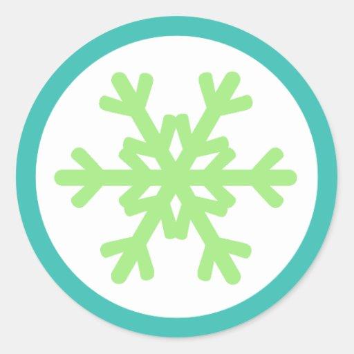 Snowflake Envelope Seal Stickers