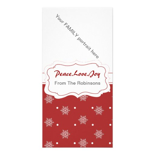 Snowflake  Family Picture Card