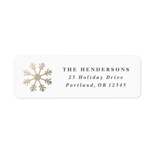 Snowflake faux foil | Return address label