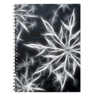 Snowflake feather look, Christmas style Notebook