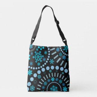 Snowflake Flurry Black Crossbody Bag