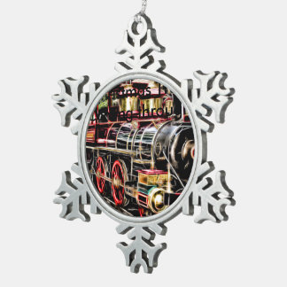 Snowflake for Train enthusiats Snowflake Pewter Christmas Ornament