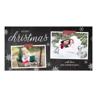Snowflake Fun Christmas Photo Card