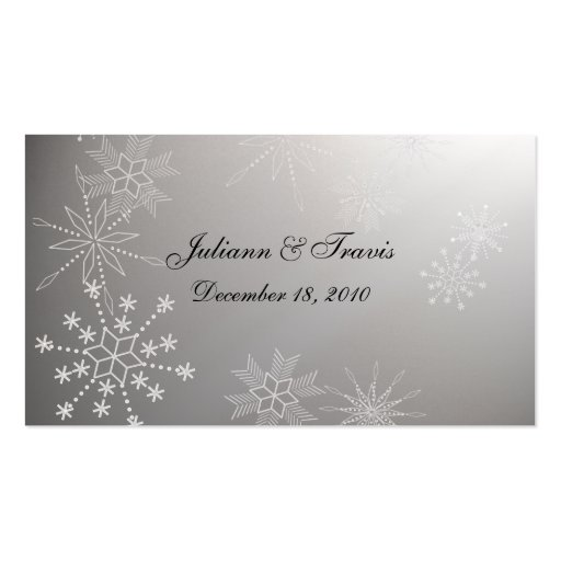 Snowflake Gems/ seating card Business Card Templates
