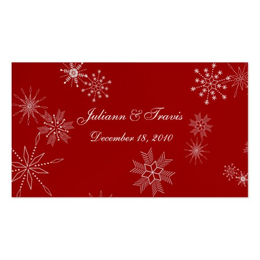 Snowflake Gems/ seating card Business Cards