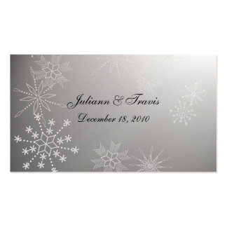 Snowflake Gems/ seating card Pack Of Standard Business Cards