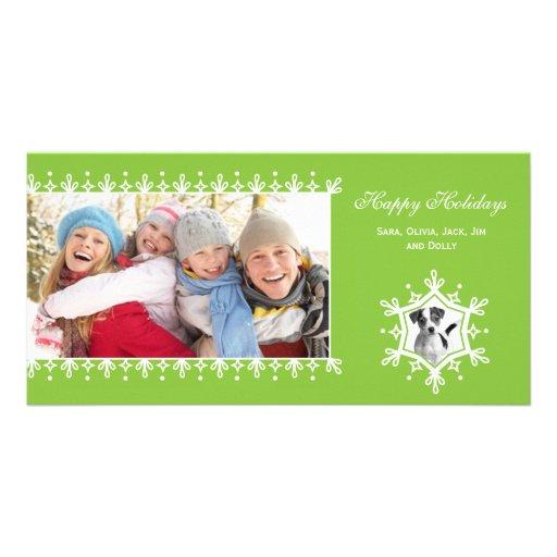 Snowflake  |  Green Holiday Photo Cards