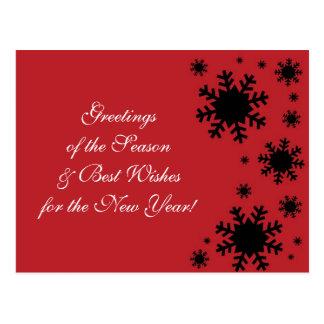 Snowflake Greetings Postcard