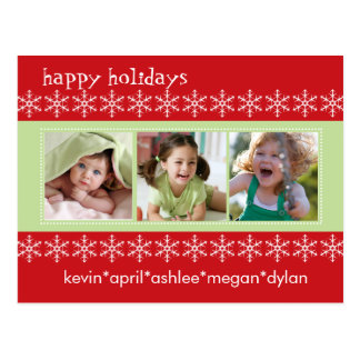 Snowflake Happy Holiday Photo Card Postcard