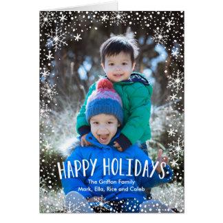 Snowflake Happy Holidays Greeting Card