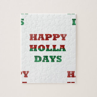 snowflake happy holla days jigsaw puzzle