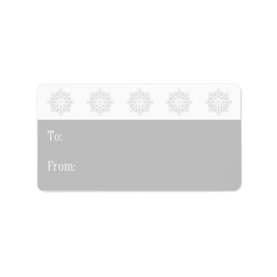 Snowflake Holiday Gift Tags-silver Label