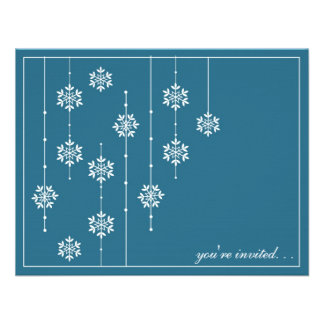 Snowflake Holiday Party Invitaitons Custom Invite