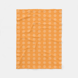 Snowflake Holiday Pattern Deep Saffron Christmas Fleece Blanket