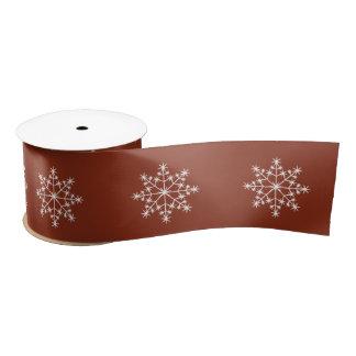 Snowflake Holiday Pattern Sienna Xmas Christmas Satin Ribbon