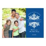Snowflake Holiday Photo Card Invitation