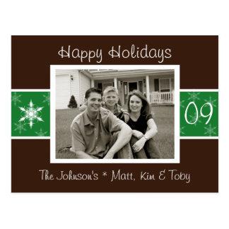 Snowflake Holiday Photo Card Postcard