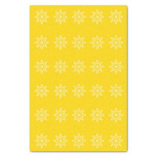 Snowflake Holiday School Bus Yellow Xmas Christmas Tissue Paper