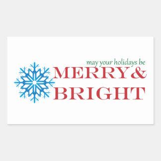 Snowflake Holiday Sticker