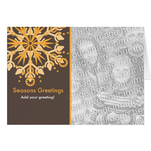 Snowflake Holiday Template Cards