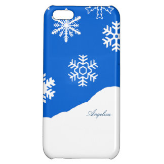 Snowflake Holiday Winter Wonderland Custom Name iPhone 5C Cover