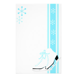 Snowflake Ice Skates Stationery