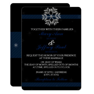 Snowflake Invitation with Blue Banner