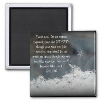 Snowflake ~ Isa 1:18 Magnet
