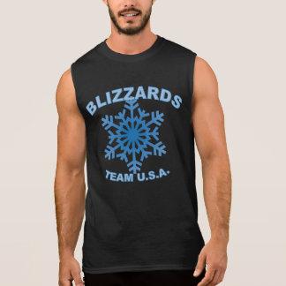 snowflake jersey sleeveless shirt