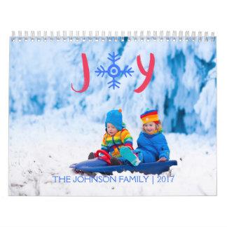 Snowflake Joy | 2017 Custom Calendar