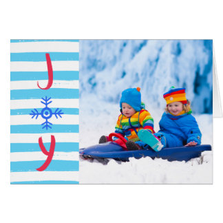Snowflake Joy | Christmas Holiday Greeting Card
