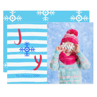 Snowflake Joy | Christmas Holiday Photo Card