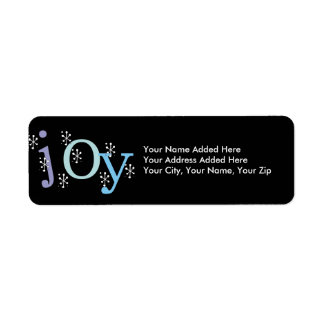 Snowflake Joy Holiday Return Address Labels