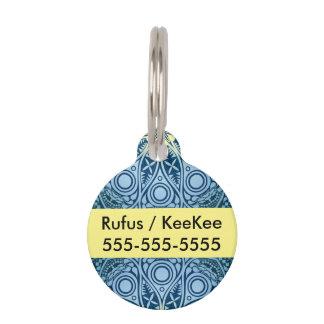 Snowflake kaleidoscope pattern pet tag