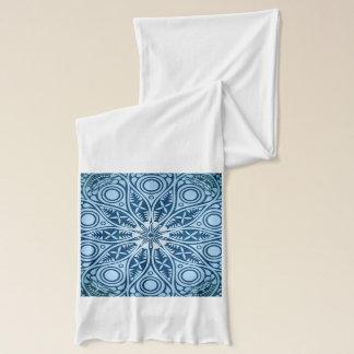 Snowflake kaleidoscope pattern scarf