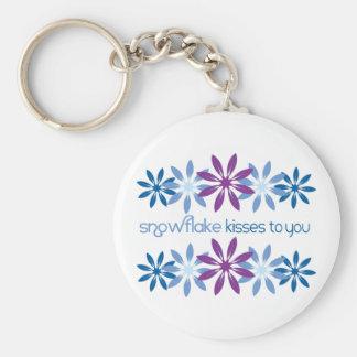 Snowflake Kisses To You Key Ring