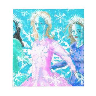 Snowflake ladies notepad