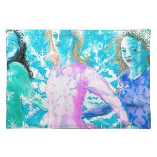 Snowflake ladies placemat