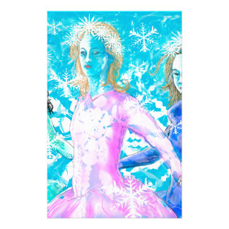 Snowflake ladies stationery