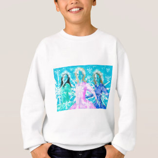 Snowflake ladies sweatshirt
