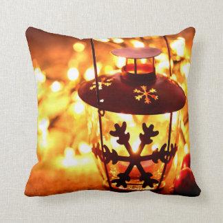 Snowflake lantern throw pillow