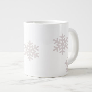 snowflake large coffee mug
