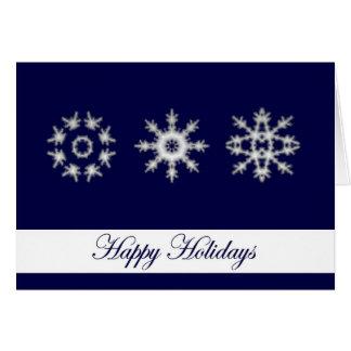 Snowflake Large Print Christmas Card