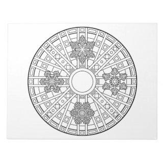 Snowflake Mandala Coloring Book Pad