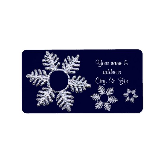 Snowflake message address label