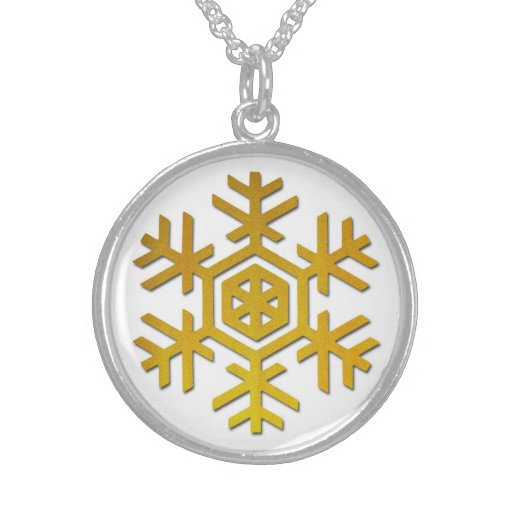 Snowflake Personalized Necklace